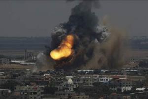 bomba  sobre gaza